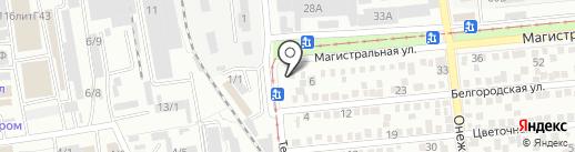 Водитель на карте Краснодара