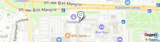 Дуэт на карте Краснодара