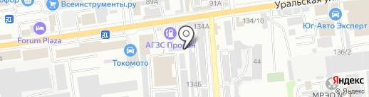 Форбос на карте Краснодара