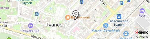 РИал на карте Туапсе