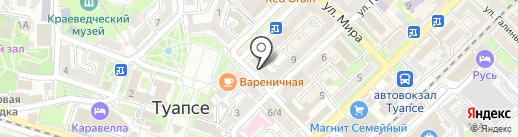 РосПечать на карте Туапсе