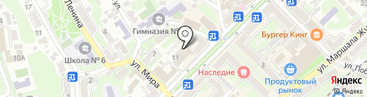 Бульвар на карте Туапсе
