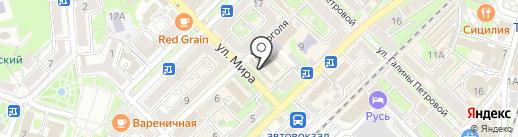 Магазин купальников на ул. Мира (г. Туапсе) на карте Туапсе