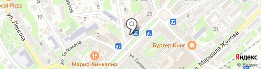 Глобус на карте Туапсе
