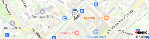 Центральное на карте Туапсе