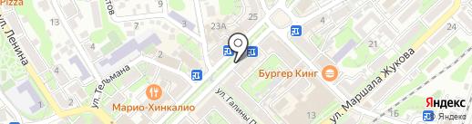 Берёзка на карте Туапсе
