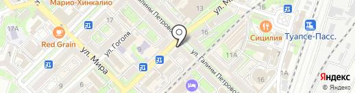 Авангард на карте Туапсе