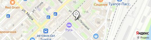 Салон оптики на ул. Галины Петровой на карте Туапсе