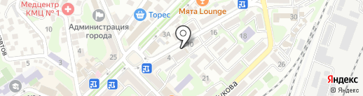 Мужская парикмахерская на карте Туапсе