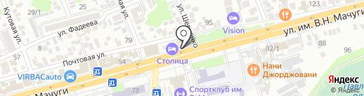 Три слона на карте Краснодара