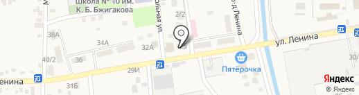 РоМира на карте Тлюстенхабля