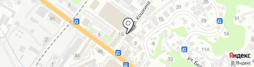 Парикмахерская на карте Туапсе