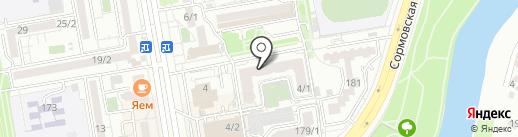 Эвель на карте Краснодара