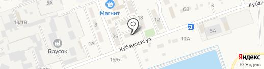 Вист-К на карте Тлюстенхабля