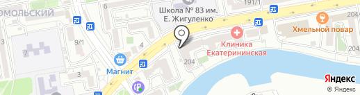 Лукоморье на карте Краснодара