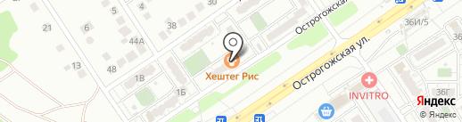 Дакар на карте Воронежа