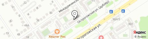 Пивко на карте Воронежа