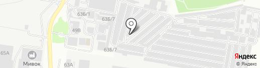 Шиномонтажная мастерская на карте Воронежа