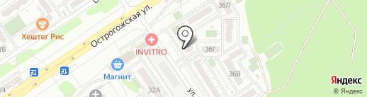 Темное & Светлое на карте Воронежа