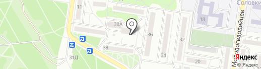 Хмельбург на карте Воронежа