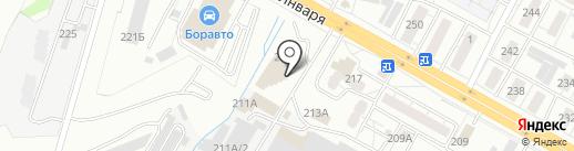 Малина на карте Воронежа