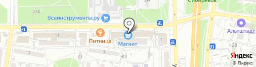 Цифра+ на карте Воронежа