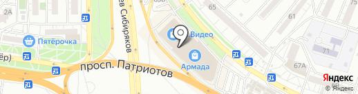 Valentina на карте Воронежа