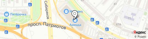 Milavitsa на карте Воронежа