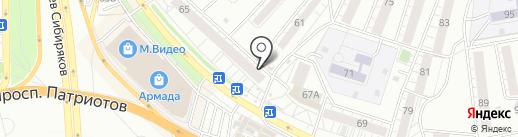 Киоск по ремонту одежды на карте Воронежа