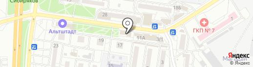 Киоск по продаже сумок на карте Воронежа