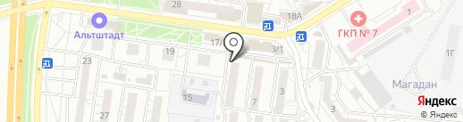 Киоск по продаже яиц на карте Воронежа