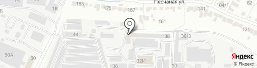 Горыныч на карте Воронежа