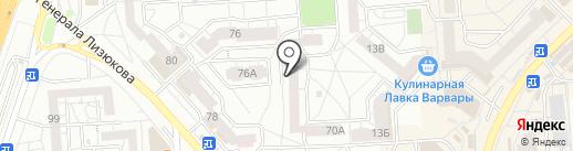 Парикмахерская на карте Воронежа