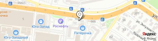 Табачный ряд на карте Воронежа
