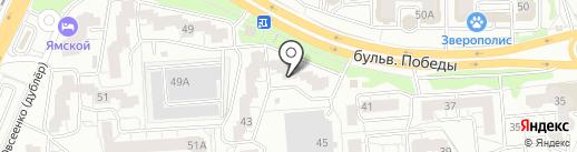 Окружное на карте Воронежа