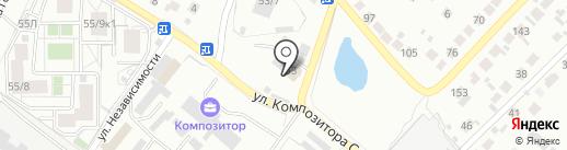 Вербена на карте Воронежа
