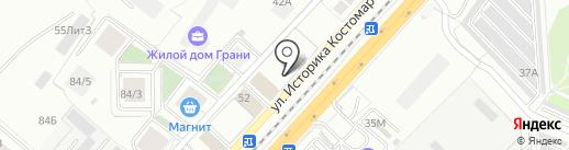 ЖБИ Кантемиров на карте Воронежа