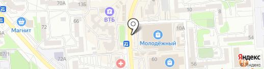 Киоск головных уборов на карте Воронежа