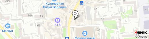 Киоск по продаже фруктов и овощей на карте Воронежа