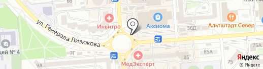 Донское молоко на карте Воронежа