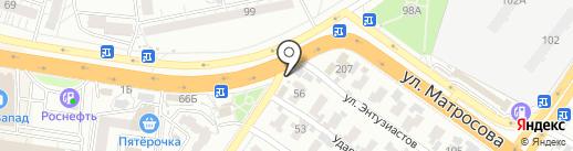Автомастерская на Ударной на карте Воронежа