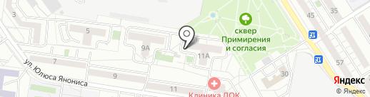 Бизнес-класс на карте Воронежа