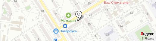 Максавит на карте Воронежа