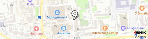 Буллитр на карте Воронежа