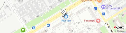 Магазин мясной продукции на карте Воронежа