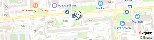 Дверной магнат на карте Воронежа