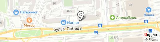 Линия здоровья на карте Воронежа
