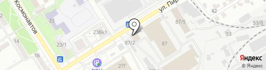 Автомойка на карте Воронежа