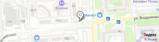 Служба памяти на карте Воронежа