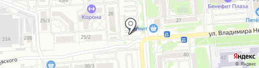 Киоск по продаже рыбной продукции на карте Воронежа